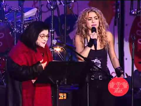 Concierto Alas Shakira  Mercedes Sosa   La Maza   Video Oficial video