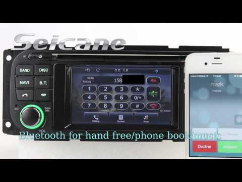 HD 2002 2003 2004 Dodge Dakota Aftermarket Radio Stereo Audio System with GPS DVD TV Dual Zone Rearv