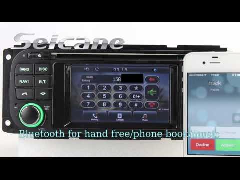 HD 2002 2003 2004 Dodge Dakota Aftermarket Radio Stereo Audio System with GPS DVD TV Dual Zone Rearv