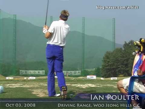 Ian Poulter slow motion Driver and Iron Golf Swing from driving range (1)