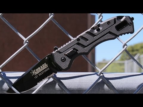 Schrade SCH911DBS Assisted Opening Folding Knife - Best Assisted Opening Blade First Responders