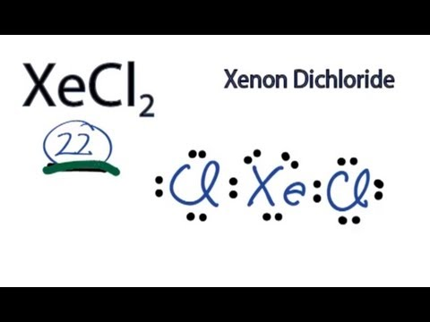 of how to draw the XeCl2 Lewis Dot Structure  Xenon DichlorideXecl2 Hybridization
