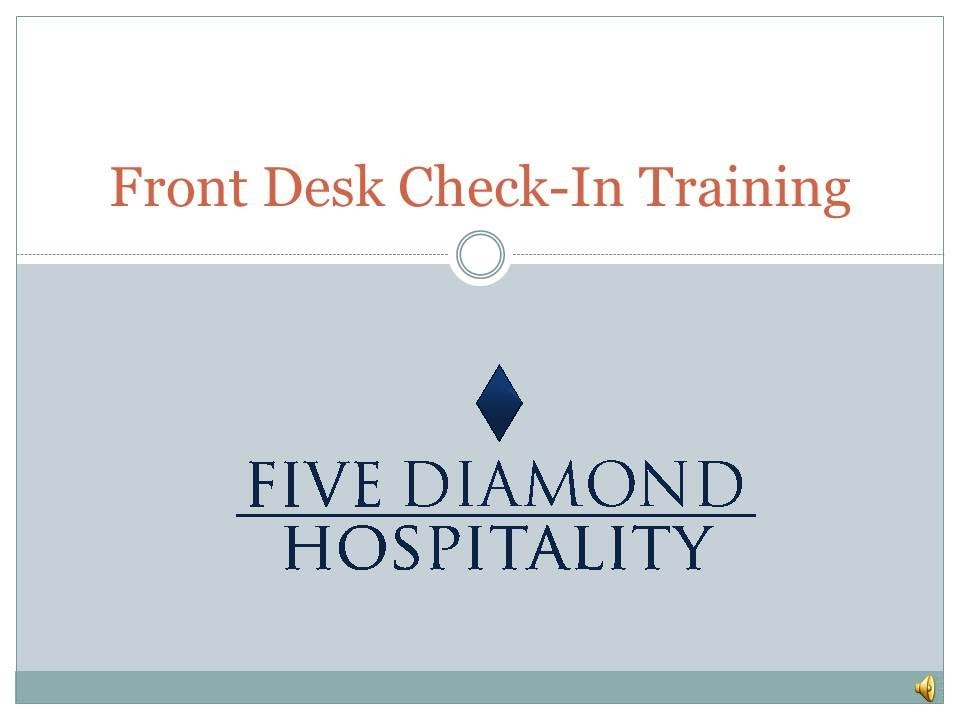 Hotel Front Desk Check In Training - YouTube