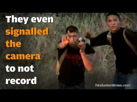Shocking footage of suspected smugglers crossing the Mexico Border
