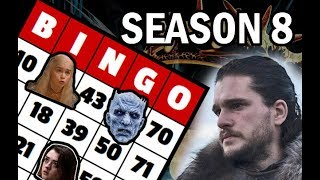 Game of Thrones Season 8 Bingo Card: Book Snob Predictions