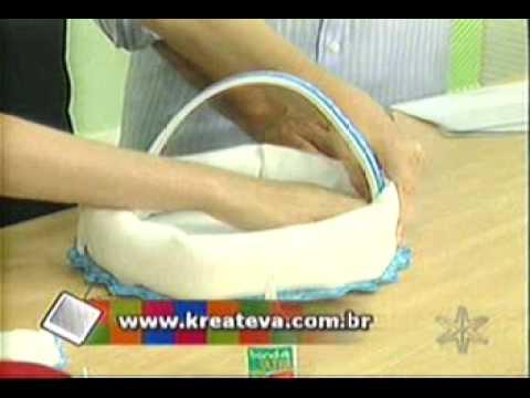 Pascoa Artesanato - Como fazer Cestinha de Páscoa em EVA