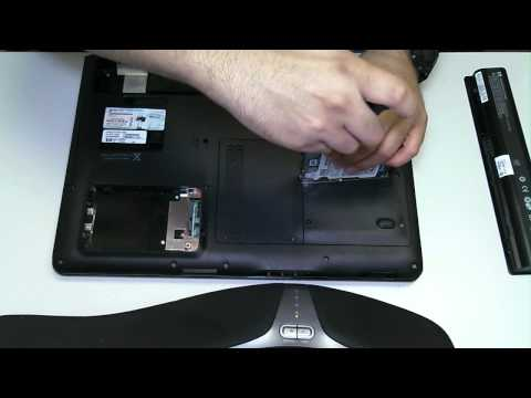HP DV9000 Hard Drive Removal Upgrade