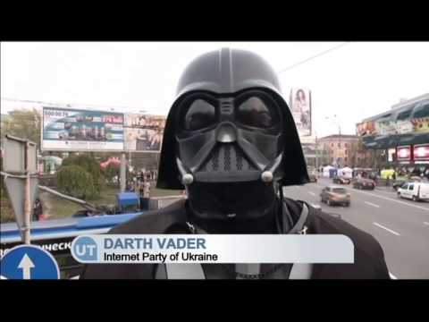 Darth Vader Campaigning in Ukrainian Parliamentary Election: Star Wars candidates seek votes in Kyiv