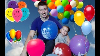 Kirill plays with funny Balloons ! Fun playtime with children!