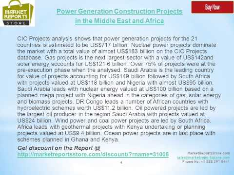 Power Generation Construction Projects in the Middle East and Africa