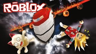 ROBLOX : เที่ยวบิน...มรณะ..รอด..ไม่รอด //Survive a plane crash on FIRE!//