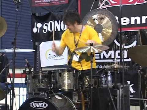 Woodstick 2009  Jon Bolton Drum Solo