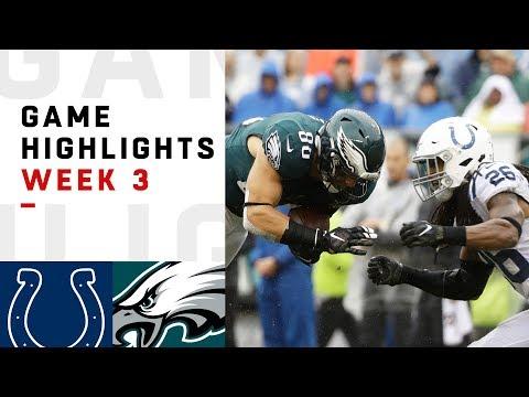 Colts vs. Eagles Week 3 Highlights | NFL 2018