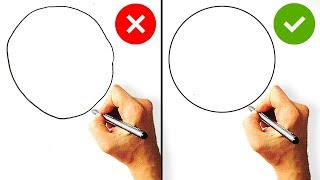 DOs & DON'Ts - Easy Drawing HACKS - How to Draw a CIRCLE