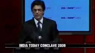 Shahrukh Khan (SRK)  speech at India Today Conclave 2009