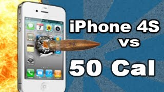 iPhone 4s vs 50 cal Armor Piercing Incendiary Explosive Rounds!: Tech Assassin