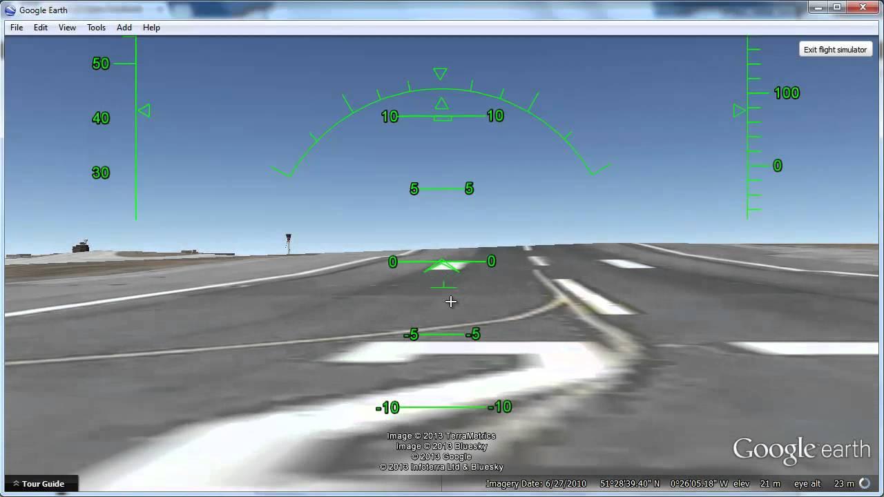 how to play flight simulator on google earth