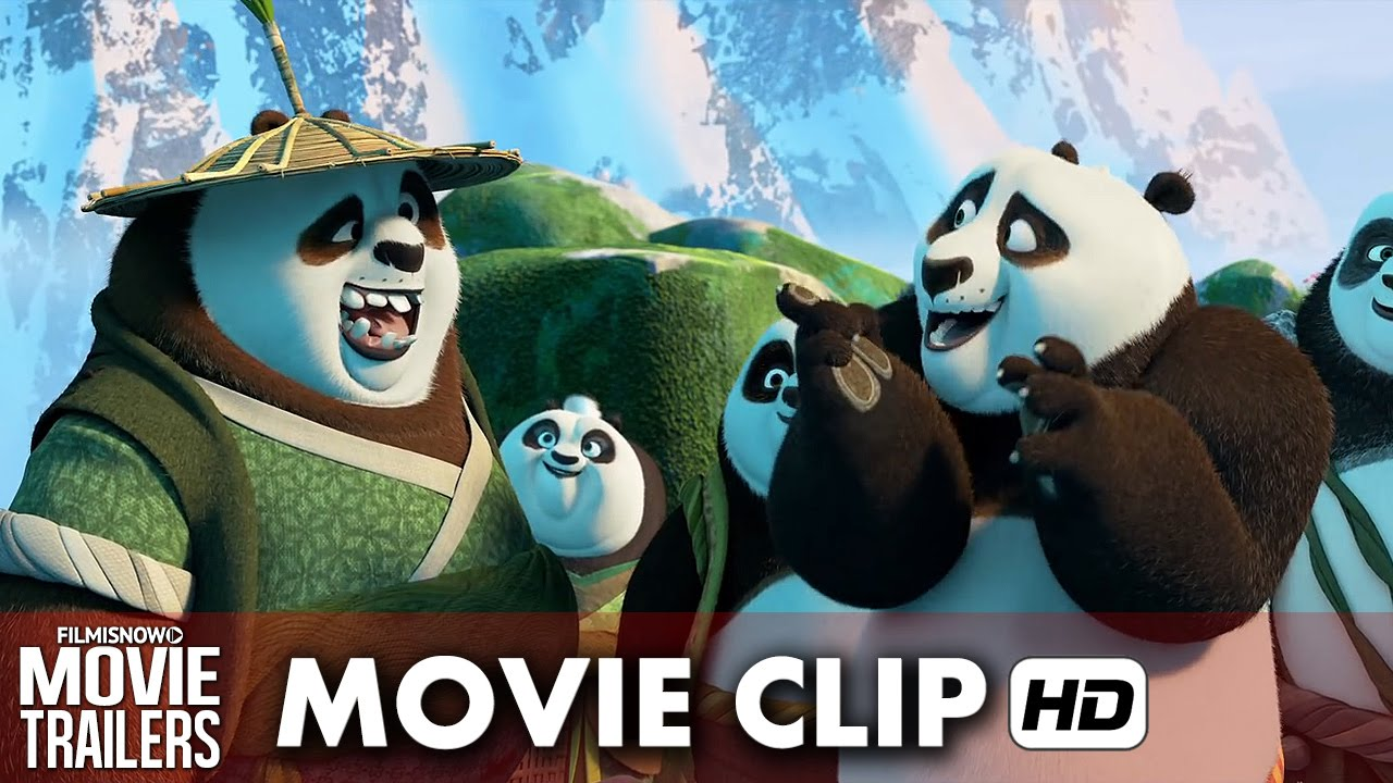 Kung Fu Panda 3 Movie Clip 'Secret Panda Village' (2016) HD