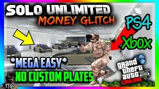 GTA 5 THE ONLY *WORKING* SOLO MONEY GLITCH - NO CUSTOM PLATES EASY! (GTA 5 UNLIMITED MONEY GLITCH)