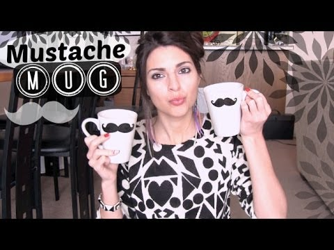 Mustache Mug How To - Holiday DIY