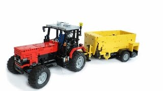 The MultiFeeder: feeding the Lego cattle with this remote control MF tractor and feeder