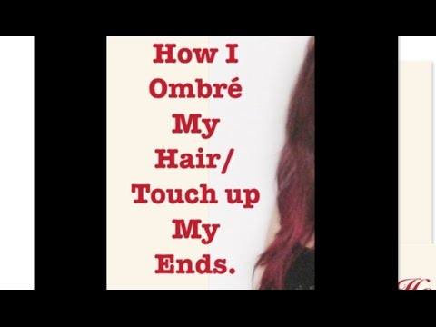 How I Ombre my red hair/Touch up my ends.