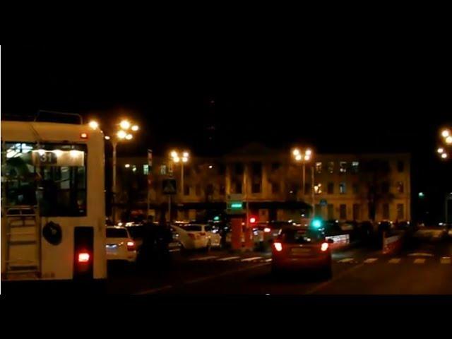 Ночной город Краснодар, прощаюсь 31.03.2014 г