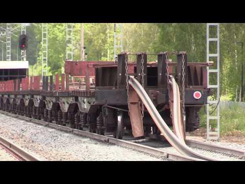 Капитальный ремонт ж.д. часть 6/8 - Выгрузка рельсовых плетей / Track repair 6/8 - Long rails 1