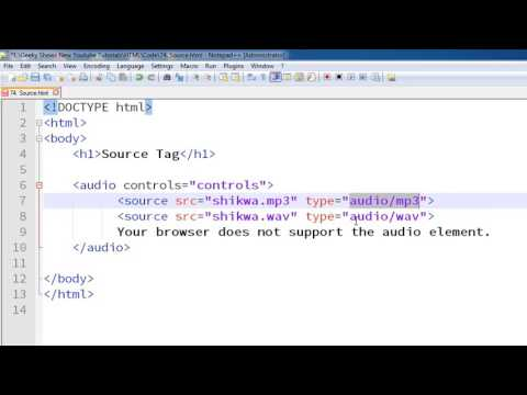 104. Example of Source Tag in HTML (Hindi)