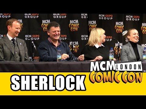 Sherlock MCM London Comic Con Panel - Mark Gatiss, Steven Moffat, Amanda Abbington, Sue Vertue