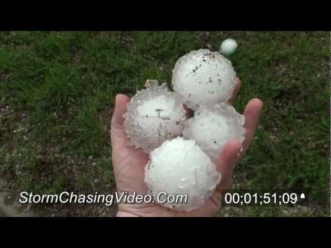 4/9/2012 Woodward OK massive hail storm stock footage archive