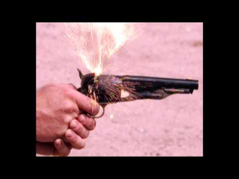 Slow Motion: 1860 Army cap & ball revolver