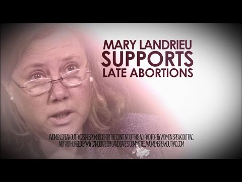 Mary Landrieu's Abortion Record is Too Extreme for LA