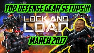 Mobile Strike - Top Defensive Gear Setups!!! (March 2017)