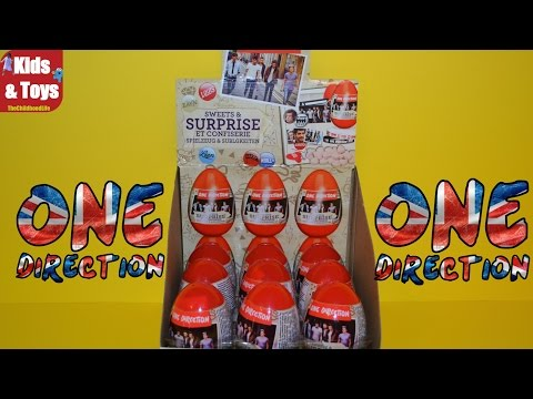One Direction Surprise Eggs with Niall Horan, Liam Payne, Harry Style, Zayn Malik Stickers and Toys