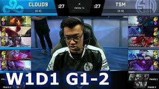 TSM vs C9 Game 2 | S7 NA LCS Spring 2017 Week 1 Day 1 | TSM vs Cloud 9 G2 W1D1