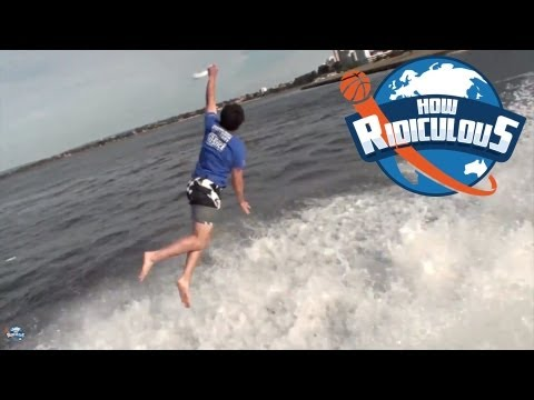 Jet Boat Frisbee Catch  - How Ridiculous