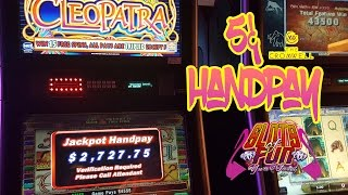 !!HANDPAY!! Retrigger Bonus!!! Cleopatra