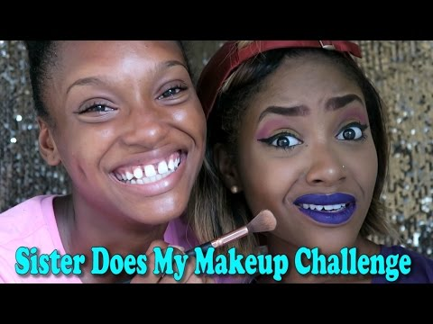Sister Does My Makeup Challenge | PETITE-SUE DIVINITII