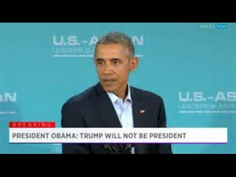 Donald Trump responds to Obama remark Trump will not be President Breaking News February 17 2016