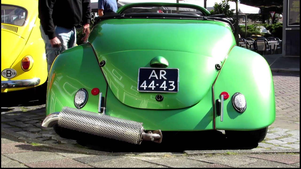 1968 vw beetle speedster pt2 @ schoondijke 2012 - YouTube