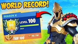*WORLD RECORD* FASTEST LEVEL 100 EVER!! - Fortnite Funny Fails and WTF Moments! #645