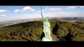 Hermannsdenkmal - Luftaufnahme Mit Einer Drohne