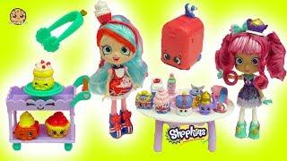 Season 8 Shopkins Shoppies Doll World Vacation British Tea Party with Jessicake + Tippy