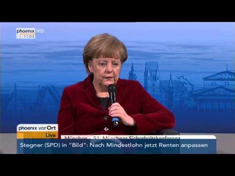 Münchner Sicherheitskonferenz: Vortrag von Angela Merkel zum Ukraine-Konflikt am 07.02.2015
