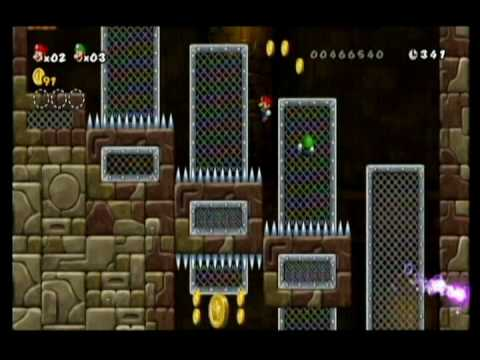NEW SUPER MARIO BROS WII-ALM1GHTY & WIFEY-WALKTHROUGH-WORLD 2-FORTRESS-PT2