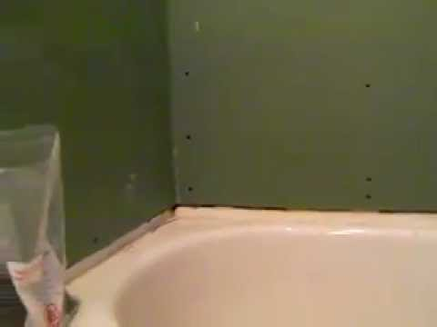 Proper gyproc installation around tub mp4 youtube - Installing tile around bathtub ...