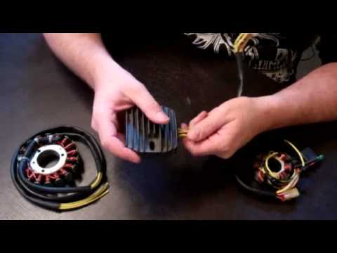 RaceTech Electric Motorcycle Stator, Voltage Regulator, and Rotor Descriptions