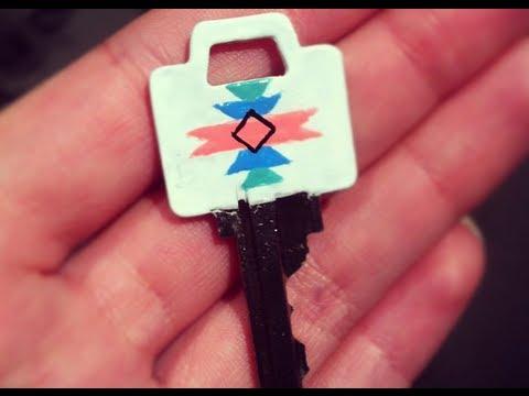 Diy Nail Polish Painted Key