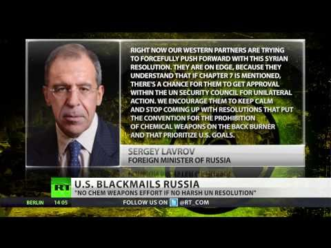 'US blackmails Russia': No chem arms effort if no harsh UN resolution on Syria